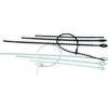 Tracon Electric Gyöngyös nyitható kábelkötegelő, natúr - 120x1,3mm, D=6-25mm, PE 120N-GY - Tracon