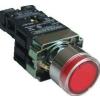 Tracon Electric Világító nyomógomb, fémalapra szerelt, előtét, piros, glim - 1xNC, 3A/230V AC, 130V, IP42 NYGBW3471P - Tracon