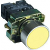 Tracon Electric Tokozott egyszerű nyomógomb, fémalapra szerelt, sárga - 1xNO, 3A/240V AC, IP44 NYGBA51ST - Tracon