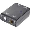 D/A konverter, digitális/analóg audio átalakító 1 x koax, vagy optikai Toslink bemenetről 1x optikai Toslink, vagy koax kimenetre SpeaKa Bidirektional