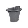 Műanyag mop felmosóvödör 15L + csavaró metálszürke
