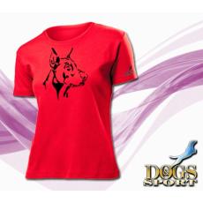 Dogs & Sport Doberman női póló (Női rövid ujjú póló )