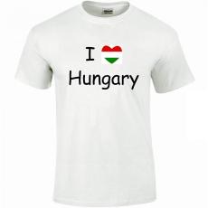 Tréfás póló I love Hungary (XXXL)