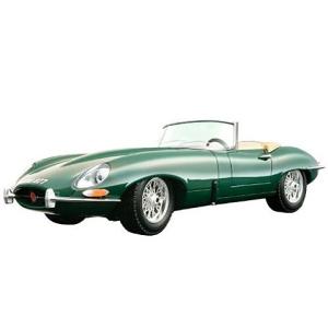 BBurago : Jaguar E-Type Cabriolet (1961) autó zöld színben 1/18