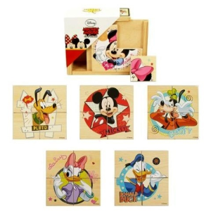 Brimarex Mickey és Minnie fa puzzle dobozban 6x4db