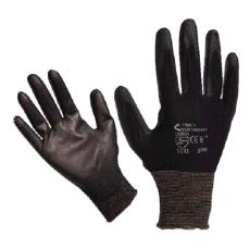 Kötött kesztyű fekete nylon, BUNTING BLACK XL-es méret, 10` poliuretánba mártott (Kesztyű)