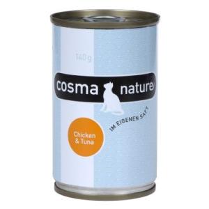 Cosma Nature 6 x 140 g - Tonhal & garnélák