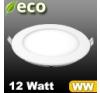 ECO LED panel (kör alakú) 12 Watt - meleg fehér fényű világítási kellék
