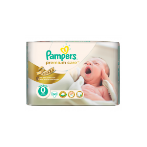Pampers Premium Care 0 Newborn Pelenka, 30 db