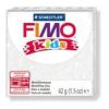 Gyurma, 42 g, égethető, FIMO Kids, glitteres fehér