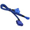 Bitfenix Molex -> 3x 3-Pin 5V Adapter 20cm - sleeved kék/kék
