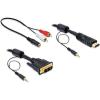 DELOCK Cable DVI male -> HDMI male hanggal 5m (84457)