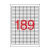 APLI 25,4x10mm felülcímkézéshez 3780db/cs | Fedõ etikettek
