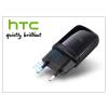 HTC gyári USB hálózati töltő adapter - 5V/1A - TC E250 black (csomagolás nélküli)