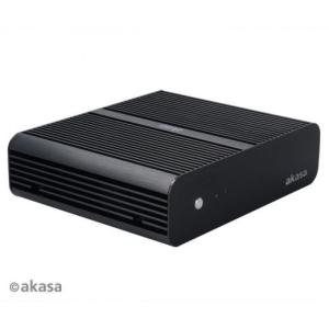 Akasa HÁZ AKASA Euler Fanless Mini-ITX + 120W tápegység - Fekete