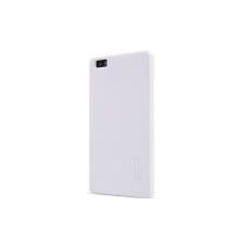 Nillkin Super Frosted érdes műanyag hátlaptok kijelzővédő fóliával Huawei P8 Ascend-hez fehér* tok és táska