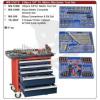 GENIUS TOOLS Szerszámos szekrény gyári-felszerelt 236 db-os 5 fiókos Genius (MS-236TS)