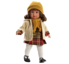Martina baba kockás ruhácskában 40cm - Llorens baba
