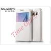 Kalaideng Samsung SM-G920 Galaxy S6 flipes tok - Kalaideng Sun Series View Cover - white