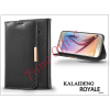 Kalaideng Samsung SM-G920 Galaxy S6 flipes tok kártyatartóval - Kalaideng Royale II Series - black