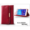 Kalaideng Sony Xperia Z3+/Z4 (E6553) flipes tok kártyatartóval - Kalaideng Royale II Series - dark red