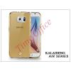 Kalaideng Samsung SM-G920 Galaxy S6 szilikon hátlap üveg képernyővédó fóliával - Kalaideng Air Series - gold