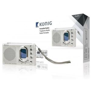 König Hordozható FM-vevőkészülék