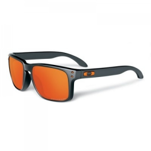 Oakley Holbrook Toxic Black/Dark Grey/Fire Iridium Polarized