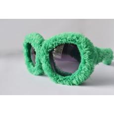 Plüss Rugy Bugy party napszemüveg - zöld