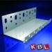 KBL-Hungária Hõszigetelõ alumínium lábazati indítóprofil 0,6 mm x 2,5 m x 100 mm