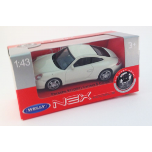 Welly NEX Modells 1:43 Porsche 911 (997) Carrera S Coupe fehér 128/32