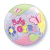 Lufi HÉLIUMMAL TÖLTVE Baby Girl Butterfiles Bubble 22inch-es Babaszületésre