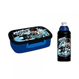 Majewski: Max Steel Lunch set (bidon+ lunch box)
