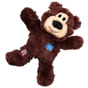 KONG WildKnots Bears - M/L-méret: H 26 x Sz 21 x M 10 cm