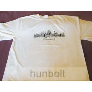Budapest - Parlament fehér póló M méret- férfi