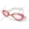 Gyermek úszószemüveg GH, rózsaszín, szilikon pántos, átlátszó halvány színárnyalatú lencsével