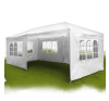 Kerti pavilon, sörsátor 6 oldalfallal 6x3 m fehér kerti bútor