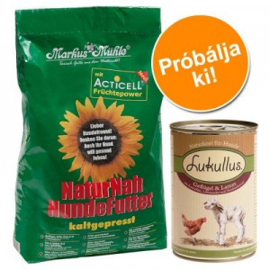 Markus Mühle Próbacsomag: 5 kg Markus-Mühle + 6 x 400 g Lukullus - Szárnyas & bárány