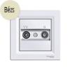 Asfora - TV-R aljzat, átmenő, 4 dB, komplett, bézs
