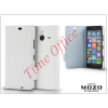 Mozo Nokia Lumia 640 XL flipes tok - Mozo Book Case - white