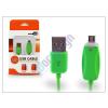 USB USB - micro USB adat- és töltőkábel 1 m-es vezetékkel, töltöttségi állapotjelző LED fénnyel - zöld