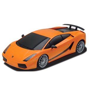 BBurago : Lamborghini Gallardo Superleggera fém autó narancssárga színben 1/24