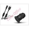 Haffner USB szivargyújtó töltő adapter + micro USB adatkábel - 5V/1A - fekete