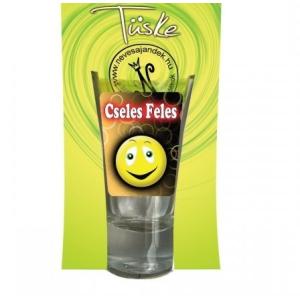 Pálinkás pohár, Cseles feles