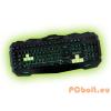 Keep Out F80E Gamer billentyűzet Black/Green ENG Multimédia,Black,USB,ENG,Billentyűzet megvilágítás