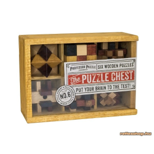 Professor Puzzle PP The Puzzle Chest fa ördöglakat készlet