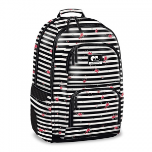 Ars Una Autonomy Striped Roses iskolatáska hátizsák