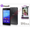 Made for Xperia MUVIT Sony Xperia M4 Aqua (E2303/E2306/E2353)/Xperia M4 Aqua Dual (E2312/E2333/E2363) hátlap - Made for Xperia Muvit My Frame - black/clear