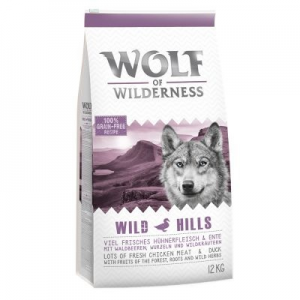 Wolf of Wilderness 'Wild Hills' - kacsa - 12 kg