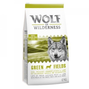 Wolf of Wilderness 'Green Fields' - bárány - 2 x 12 kg